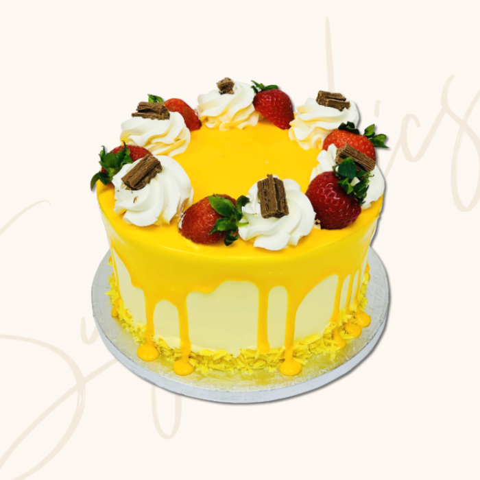 Buy-Mango-Flavour-topped-with-Strawberry-Birthday-Cake-in-London-UK-768x768